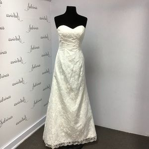 Davinci 50155 ivory size 6 wedding gown